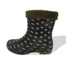 Women's New Rain Boots Removable Short Waterproof Warm Lining Rubber Sole Shoes