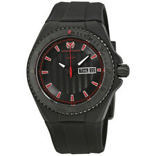 TechnoMarine Cruise Night Vision Black Silicone Day/Date Dial Mens Watch 115167