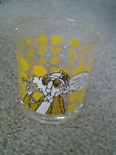 """Maxine & dog vintage Hallmark Clear Plastic Glass """"First Day Mess We Call Life"""""""