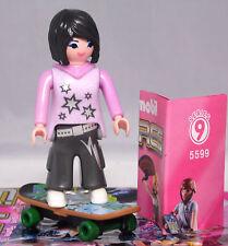 Playmobil 5599 Figures Girls Serie 9 # 11 Skateboarderin Skateboard Skaterin NEU