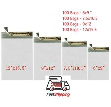 400 Combo Poly Mailers Bags Each 100 - 6x9 7.5x10.5 9x12 12x15.5 - ValueDepotCa