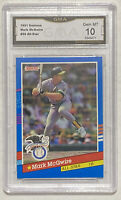 1991 Donruss Mark McGwire #56 All-Star Graded GMA PSA 10 - Athletics Cardinals