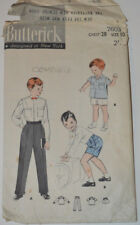 sewing pattern shirt and trousers wedding  vintage 50s
