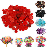 100Pcs Buttons Round Sewing Resin Apparel Crafts New Scrapbook DIY