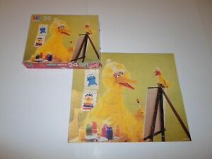 Complete ! Sesame Street 24 Piece Puzzle *Big Bird* Painting Art Ernie St 4670-9