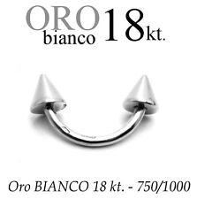 Piercing body BANANA CORPO TRAGO SOPRACCIGLIO ORO BIANCO 18kt. white GOLD