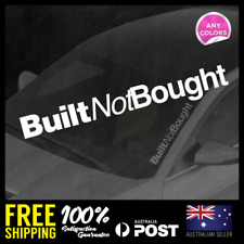 Built Not Bought 395x54mm Window Car Decal Vinyl Sticker Recovery JDM Stickers