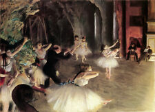 "11x14""Decoration CANVAS.Interior room design art.Degas ballerina.Ballet.6385"