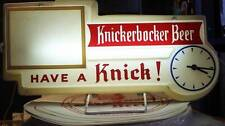 Vintage Knickerbocker Beer Bar Light Works Clock  Ruppert Brewery New York 1950s