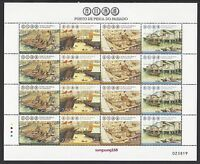 China Macau 2012 Mini S/S Fishing Harbour in the Past stamps 昔日漁港