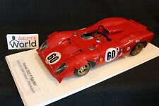 CMM Model (built kit resin) Ferrari 312P Spyder 1:12 #60 BOAC 500 1969 (PJBB)