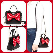 kate spade new york Minnie Mouse Mini Maise Leather Hand Bag - Black