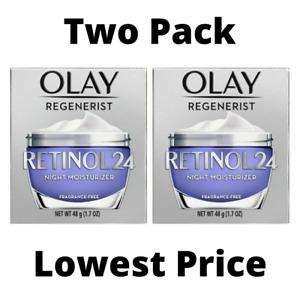 *LOT OF 2* Olay Regenerist Retinol 24 Night Face Moisturizer - 1.7oz - New