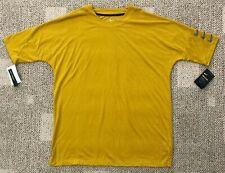 Mens Nike Rise 365 Half Sleeve Running Top Shirt Gold Brown Size Xl 928541-392