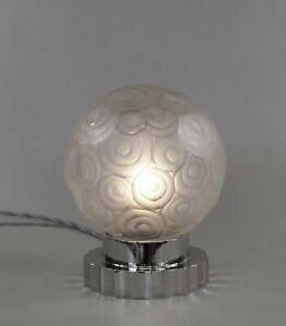 SABINO : FRENCH ART DECO LAMP 1930 .... bronze globe muller daum era 1925 France