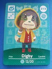 213 Digby SP Animal Crossing Amiibo Card Single - Series 3 Near Mint US Version