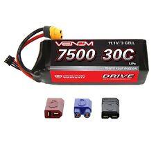 Venom LiPo Battery : Traxxas Stampede 1:10 RC 30C 11.1V 7500mAh 3S with UNI Plug