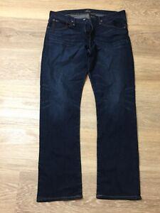 mens ralph lauren hampton relaxed straight blue denim jeans pants 34 X 32