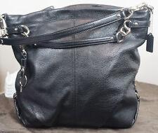 Coach F16618 Brooke Pebble Leather Large Tote Hobo Shoulder Bag Black
