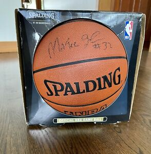 Magic Johnson signed autographed official NBA Stern basketball JSA  **NEW In BOX