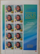 OLYMPIC 2000 GOLD MEDAL STAMP SHEETS CATHY FREEMAN WOMENS 400 mt. NEW.