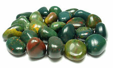TUMBLED - (1) LARGE BLOODSTONE Crystal w/Description Card- Healing Stone Reiki