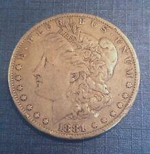 Authentic  US Morgan Silver Dollar 1881 P (1878-1921)