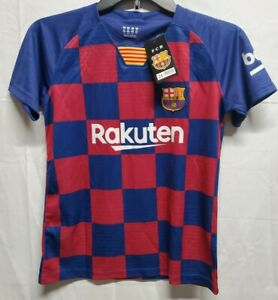 2020-21 FC Barca Lionel Messi 10 Home Jersey Kids Soccer Youth Sz Medium 7/8