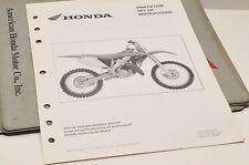 2004 CR125R CR125 GENUINE Honda Factory SETUP INSTRUCTIONS PDI MANUAL S0168