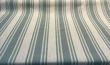 Waverly Linen Strip Lagoon Green Thames Fabric By the Yard