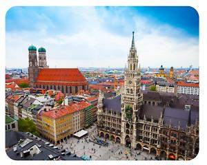 Mousepad München Marienplatz 24x19 Rathaus Frauenkirche Bayern Mauspad Unterlage