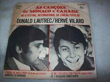 "7"" EP P/S 45 - HERVE VILARD / DONALD LAUTREC - Mônaco/Canadá - 1967- Brazil"