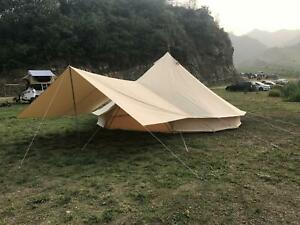 Cotton Canvas Bell Tent 3M 4-Season Rain Flying Awning Tent Accessory Yurts Tent