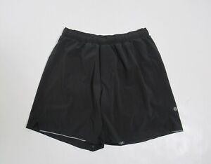 """Lululemon Men's Surge Short *7"""" Color Black Size M Stretch"""