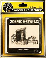 Woodland Scenics / SCENIC DETAILS HO Scale 1:87 D213 SMOKEHOUSE Diorama Decor