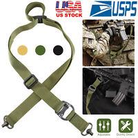 Nylon 2Point Rifle Gun Sling Adjustable Fast Loop Heavy Duty Quick Detach Swivel