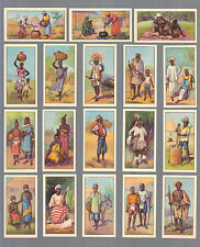 CIGARETTE CARDS. Cooperative.Wholesale.Society.AFRICAN TYPES.(Set of 24 ).(1936)