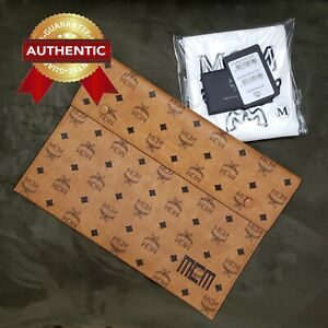 NEW Authentic MCM Large Pouch from Tri Pouch in Visetos Mix Set