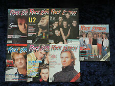 7 Edition of Music Express Magazine 1980s  Sting Duran Duran U2 INXS Def Leppard