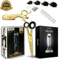 BARBER TRAVEL KIT ANDIS CORDLESS T-OUTLINER WAHL CORDLESS SENIOR MAQUINILLA USA