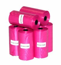 1200 Dog Pet Waste Poop Bags 60 Refill Rolls with core Coral USA PetOutSide