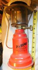 Vinrtage red PREPO LITE MODEL 400 PROPANE LANTERN, CAMPING, HIKING LAMP LIGHT