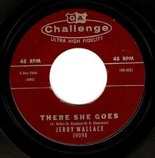 JERRY WALLACE There She Goes Vinyl Record 7 Inch US Challenge 59098 1960