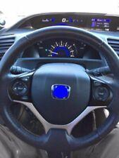 50mm X 40mm Blue Steering Emblem Badge Fits 2012 Honda Civic