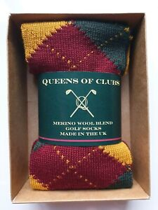 "Merino Wool Blend Golf skiing yoga Socks  size 6-9  woman ""Red Currant"""