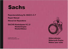 Sachs Wankelmotor KC 27 Reparaturanleitung Repair Manual KC27 Hercules W 2000