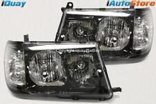 for Toyota Landcruiser 100 Series '98-'05 Altezza BLACK HeadLights Pair ADR