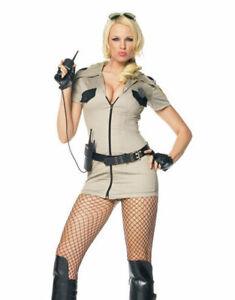 Police Cop Sheriff Sexy Leg Avenue Costume M UK 10 5 piece set