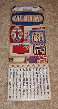 Bo Bunny Cardstock Sticker Sheet ~ Anthem Collection.