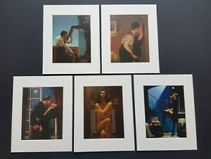 Jack Vettriano The Erotic Selection Set of 5 Mounted Art Prints 10x8 inch NEW